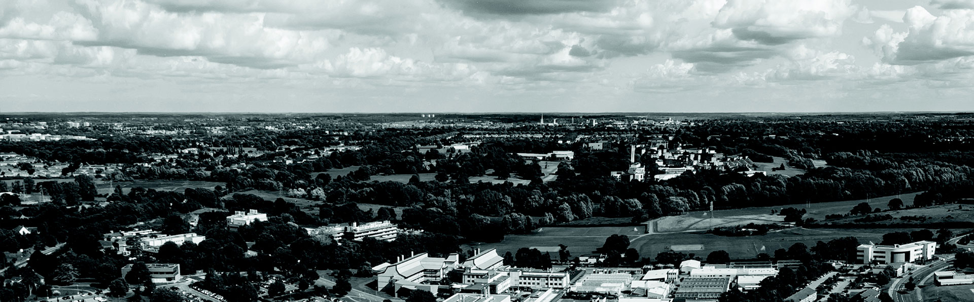 Aerial shot of Norwich