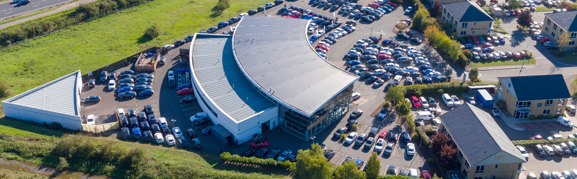 Large business park aerial photograph